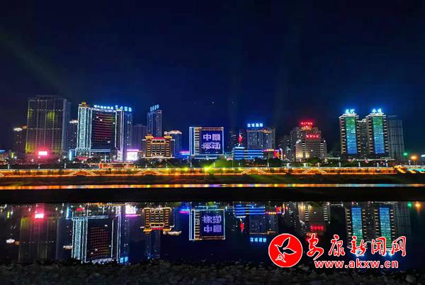 新年汉江夜景